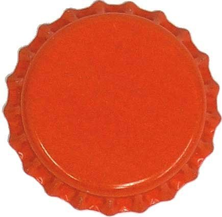 orange beer bottle caps - 2