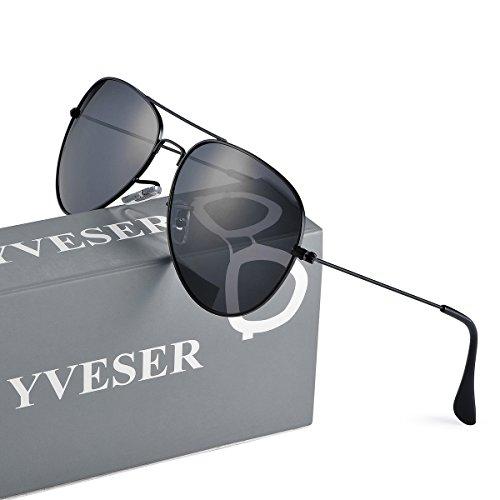 Cadre Yv3025 Lentille pour Noir Noire de Lunettes Yveser et Femmes Hommes soleil polarisé BpPPfq