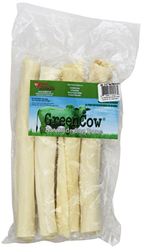 Natural 10 Rawhide - Green Cow Rawhide Dog Bones, 8 To 10-Inch Natural Retriever. Item Is Sold As 1, 4-Count Pack Bones