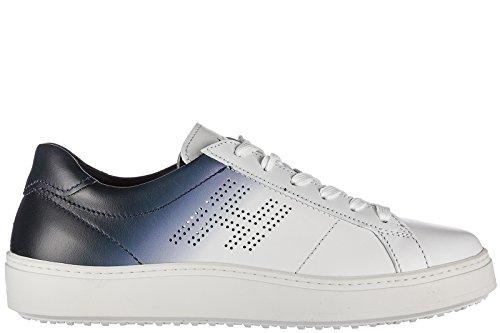 Hogan Scarpe Sneakers Uomo in Pelle Nuove h302 Bianco
