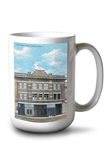 Lantern Press Billings, Montana - Odd Fellows' Block View (15oz White Ceramic Mug)