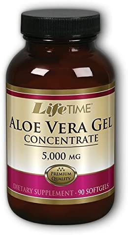 Lifetime Aloe Vera Gel 5000 Mg Herbal Supplements, 90 Count