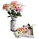 Artificial-Flower-Spring-9-Color-Daisy-White-Pink-Sunset-Red-Arrangement-Table-Centerpiece-Silk-Fake-Faux-Flowers-with-Greenery-Leaves-Stems-Ideas-DIY-Home-Decor-Party-Wedding-Bridal-Bouquet