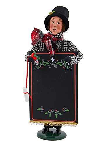 Byers' Choice Man with Chalkboard Caroler Figurine #4827 from the Specialty Character Collection