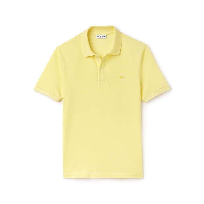 Lacoste para Hombre Polo Piqué Caviar Camiseta - Amarillo ...