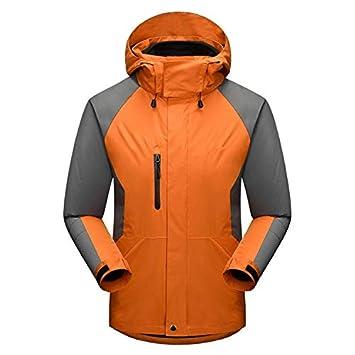 XYL HOME Ropa al Aire Libre Ropa al Aire Libre Chaqueta de Dos Piezas de los Hombres para Mantener Caliente, frío, Naranja, S: Amazon.es: Deportes y aire ...
