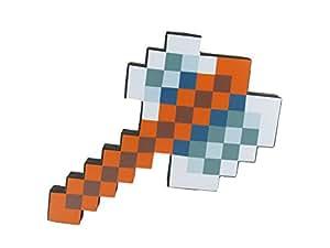 8 Bit Foam Axe Toy Weapon, Pixelated Iron Blade, 10 inch, EnderToys