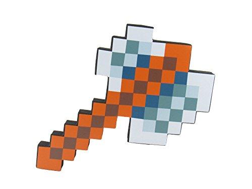 EnderToys Foam Tomahawk Toy Weapon, Pixelated Iron Blade, 10 inch