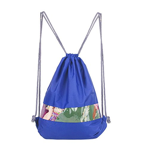 Swimming Drawstring Beach Bag Sport Gym Waterproof Backpack Duffle Pink - 7