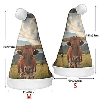 Christmas Hat Texas Longhorn Steer Santa Xmas Cap Holiday Decor 2 Piece