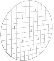 Mesh Board - Tela Mural Redonda Para Fotos e Recados, Metaltru, Branco