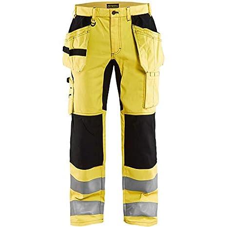 Blakläder 155218113399d124 HIGH-VIS pantalón tamaño elástico, Amarillo/Negro, D124: Amazon.es: Bricolaje y herramientas