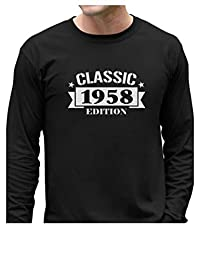 Tstars - Classic 1958 Edition - 60th Birthday Gift Long Sleeve T-Shirt