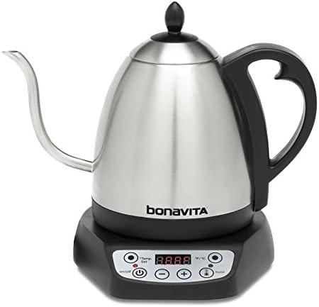 Bonavita 10L Variable Temperature Electric Kettle 10 Liters Metallic