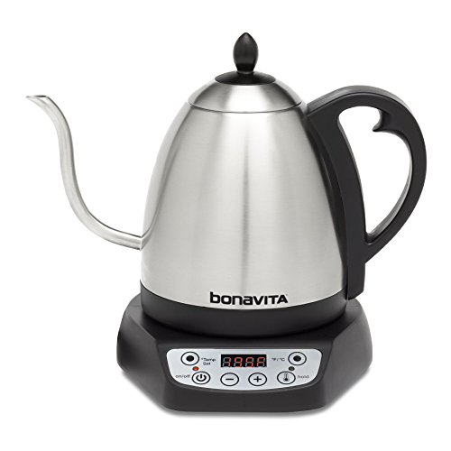 Bonavita BV382510V 1.0L Digital Variable Temperature Gooseneck Kettle -
