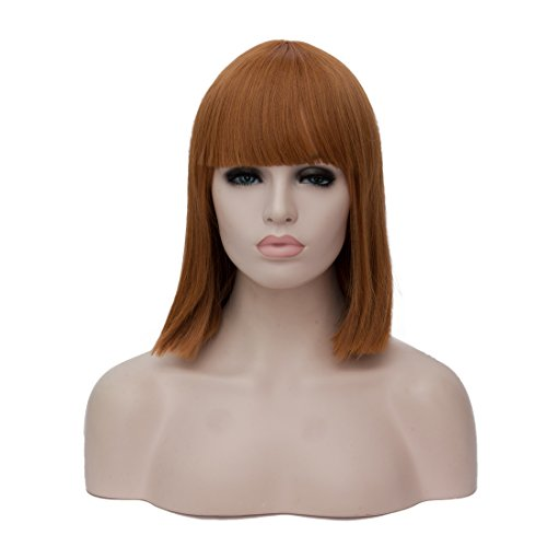 Alacos Fashion 30CM Short Bob Style Night Club Synthetic Anime Cosplay Christmas Halloween Costume Wigs for Women+ Free Wig Cap (Deep Brown 40cm) (Mother Lover Halloween Costumes)