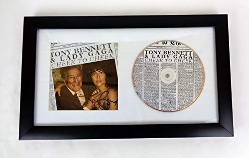 Lady Gaga Tony Bennett Signed Autograph Cheek To Cheek CD Framed COA