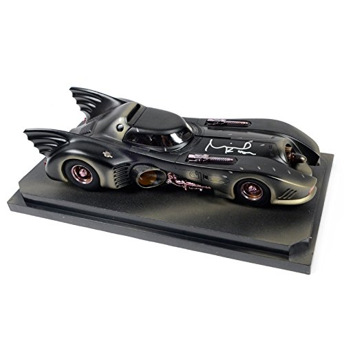Michael Keaton Autographed 1:18 Scale Die-Cast Batman Battle Damaged Batmobile - Movie Memorabilia Props