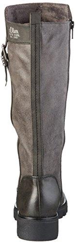 s.Oliver 25601, Botas de Montar para Mujer Gris (GREY COMB 201)