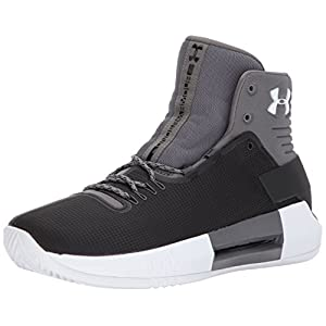 Under Armour Men's Team Drive 4, Black (001)/White, 11.5