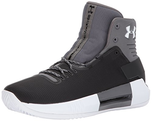 Under Armour Men's Team Drive 4 Basketball Shoe, Black (001)/White, 10