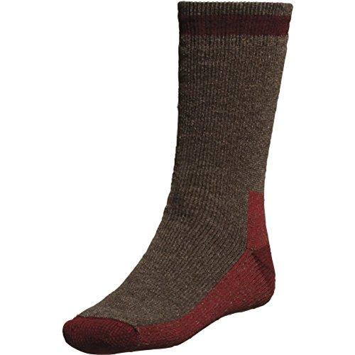 (Yaktrax Men's Outdoor Cabin Socks - Chestnut/Russet)
