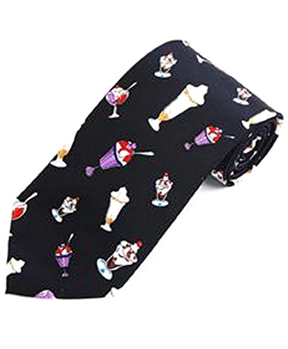 """Ice Cream Treats"" Novelty Tie (Navy)"