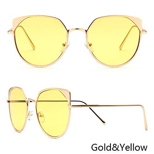 3c260f7bf55 Hectare Buy gold W yellow  New Fashion Cat Eye Sunglasses Women Brand  Designer Colorful Mirror Sun Glasses Vin  Amazon.in  Clothing   Accessories