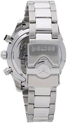 Sector Homme Chronographe Quartz Montre avec Bracelet en Acier Inoxydable R3273794004