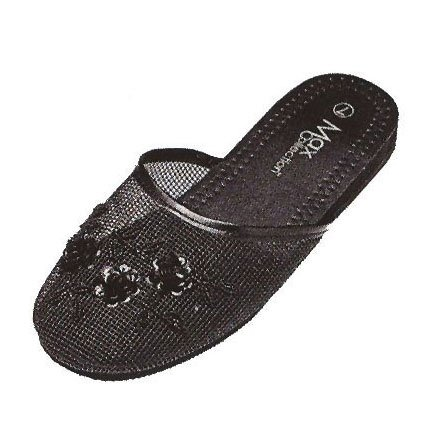 Black Slippers Mesh Black Black Mesh Slippers 7Odx74