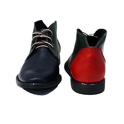 PeppeShoes Weiches Leder Rindsleder Italienisch Handgemachtes Chukka Modello Leder Stiefel Herren Stiefeletten Schnüren Bunt Bolzano rwrgRqcP