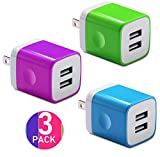 samsung galaxy s6 unlocked mini - Certified USB Wall Charger 2.1AMP Universal Power Home Travel Wall Charger Dual Port Plug for iPhone, iPod, iPad, Samsung Note, HTC, LG, Smartphones, Tablets and More Device (Random Color)