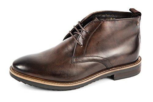 Base London Chaussures de ville à lacets pour homme Marron marron