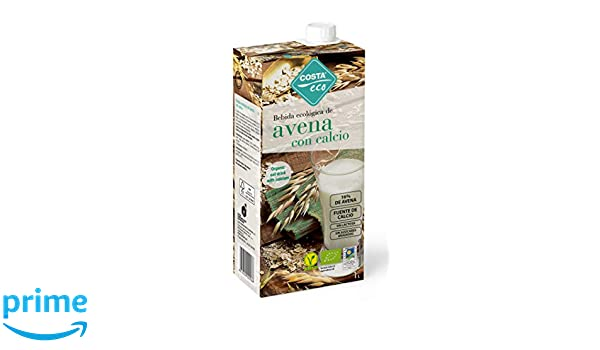 COSTA ECO Bebida Ecológica de Avena con Calcio - Paquete de 6 x 1000ml - Total 6000ml: Amazon.es: Alimentación y bebidas