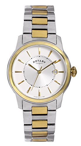 Rotary GB02771/06 Mens Locarno Two-Tone Stainless Steel Watch w/ Date