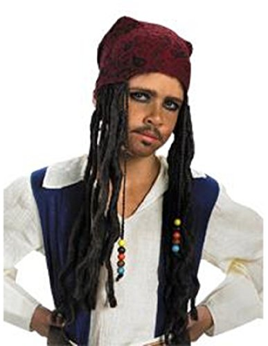 Jack Sparrow Beard Costume (Jack Sparrow Headband with Hair)