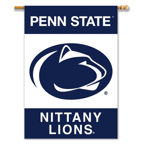 - NCAA Penn State Nittany Lions 2-Sided Banner with Pole Sleeve, 28 x 40-Inch