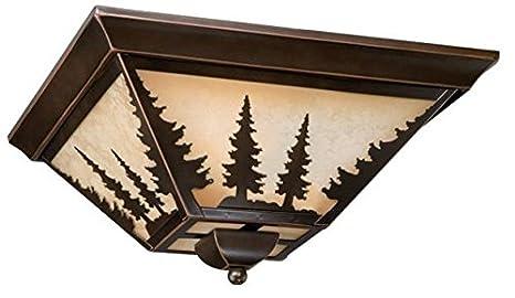 Amazon.com: Vaxcel iluminación cc55514 Yosemite 3 luz Flush ...