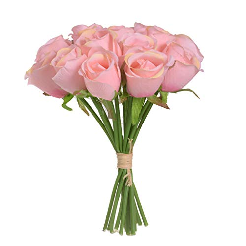 Halter Rose Bouquet Lace - Euone Clearance Sales,18 Head Artificial Fake Roses Flower Bridal Bouquet Wedding Party Home Decor