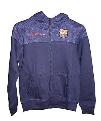 86075567fe872 Sudadera FC Barcelona Capucha Abierta Infantil  Amazon.es  Ropa y ...
