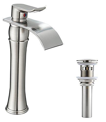 vessel faucet brushed nickle - 5