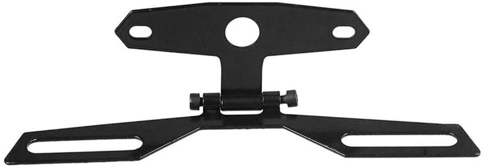 Motorcycle Adjustable Folding License Number Plate Frame Holder Motorbike Tail Rear Light Bracket Cost-Effective and Durable