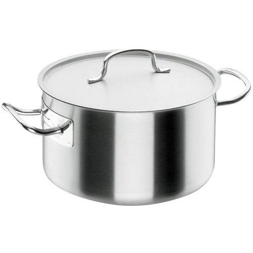 Lacor Chef-Classic 50046 - Cacerola alta con tapa, Acero Inoxidable 18/10, 45 cm