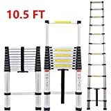 Homgrace 10.5 FT Aluminium Multi-Purpose Telescopic Ladder Foldable Extension Steps (10.5 ft)