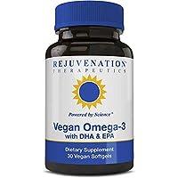 Rejuvenation Therapeutics Vegan Omega-3 with DHA & EPA (30 Softgels)
