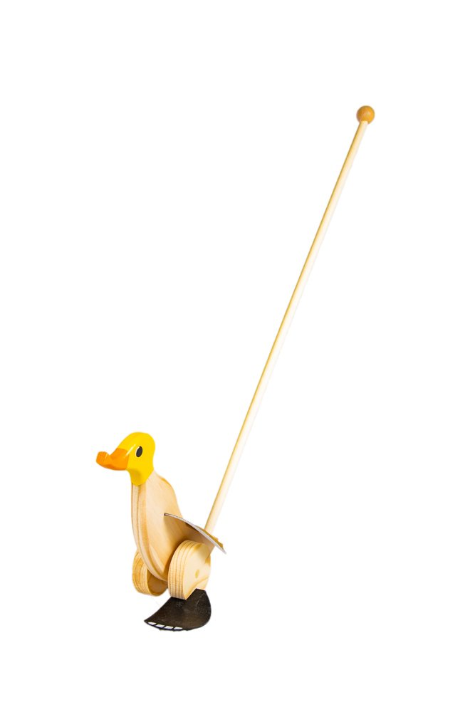 Duck Runner Wooden Push and Pull Walking Toy (Yellow) by Duck Runner (Image #2)