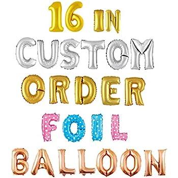 Amazon com: Letter Balloons - Custom Phrase 16