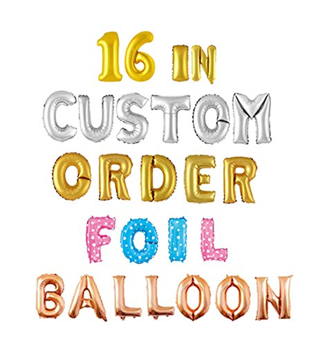 16 Inches Gold Silver Mylar Foil Balloon in Alphabet Letter and Numeric Number A-Z 0-9 (Letter A,