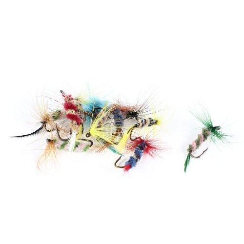 12 Pcs Colorful insectes Mouches Mayfly Bait eau douce Crochets de pêche