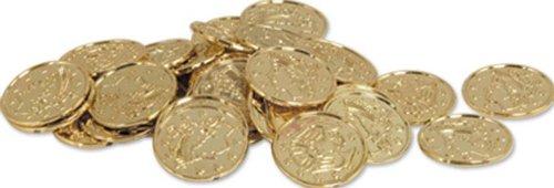Plastic Coins gold 100 Pkg